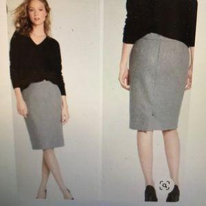 JCrew double serge wool pencil skirt